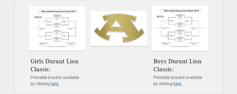 Girls Durant Lion Classic: