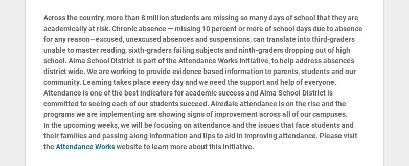 Across the country, more than 8 million students are missing so many days of school that they are...