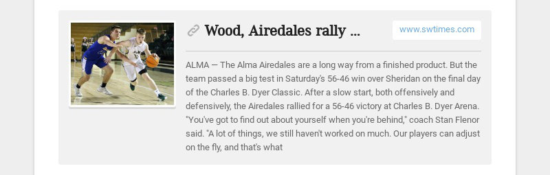 Wood, Airedales rally past Yellowjackets