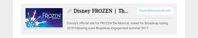 Disney FROZEN | The Broadway Musical – Cast