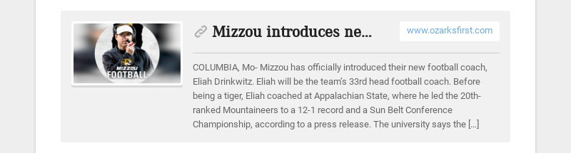 Mizzou introduces new football coach