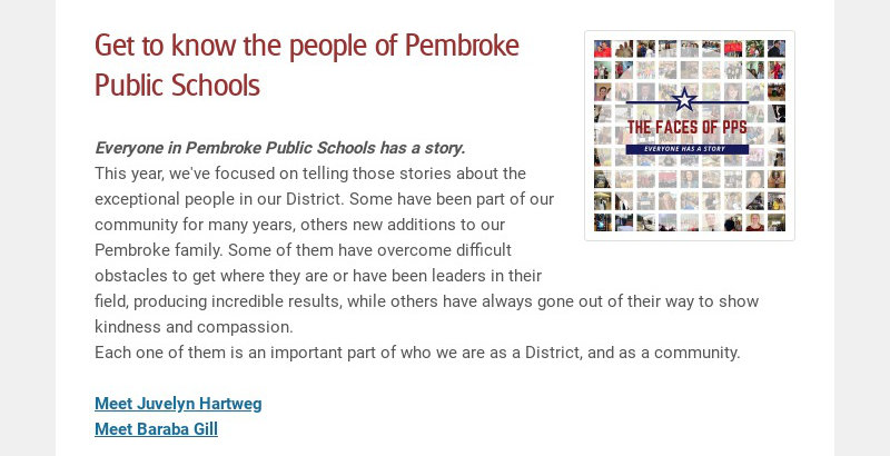 Get to know the people of Pembroke Public Schools