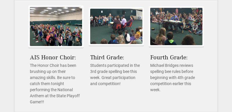 AIS Honor Choir: