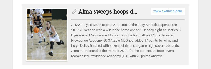 Alma sweeps hoops doubleheader