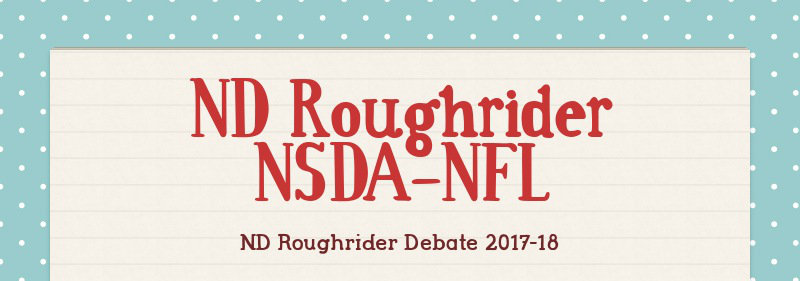 ND Roughrider NSDA-NFL