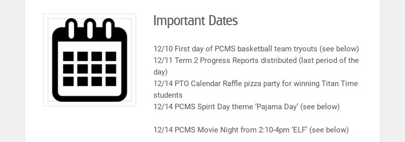 Important Dates