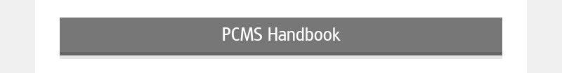 PCMS Handbook