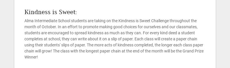 Kindness is Sweet: