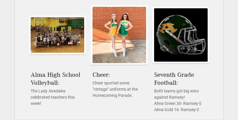Alma High School Volleyball: