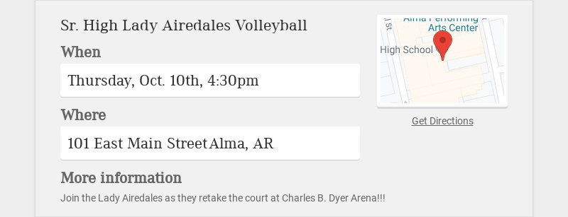 Sr. High Lady Airedales Volleyball