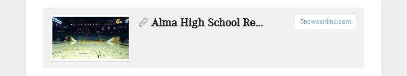 Alma High School Repairs Completed After Water Meter Leak Floods Gym 5newsonline.com
