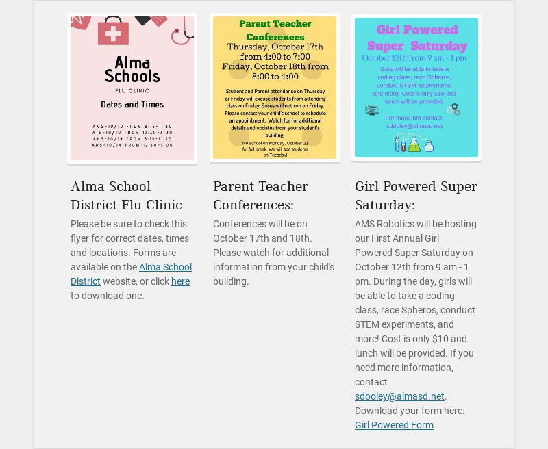 Alma School District Flu Clinic