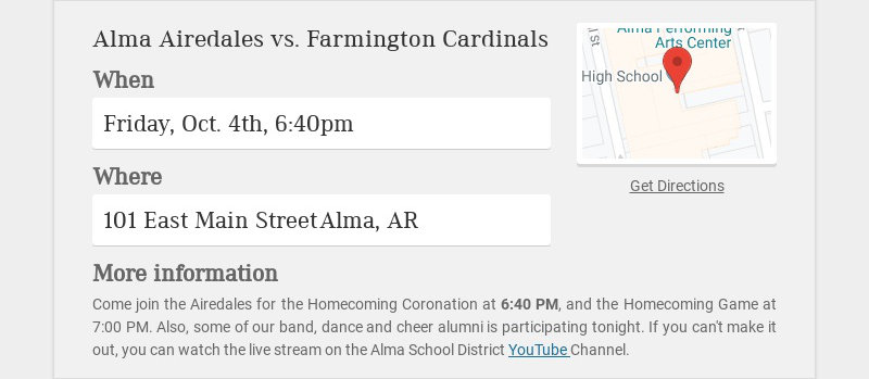 Alma Airedales vs. Farmington Cardinals