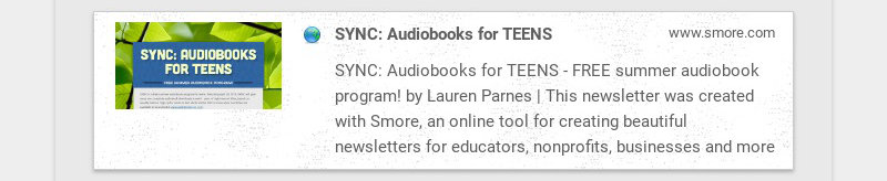 SYNC: Audiobooks for TEENS