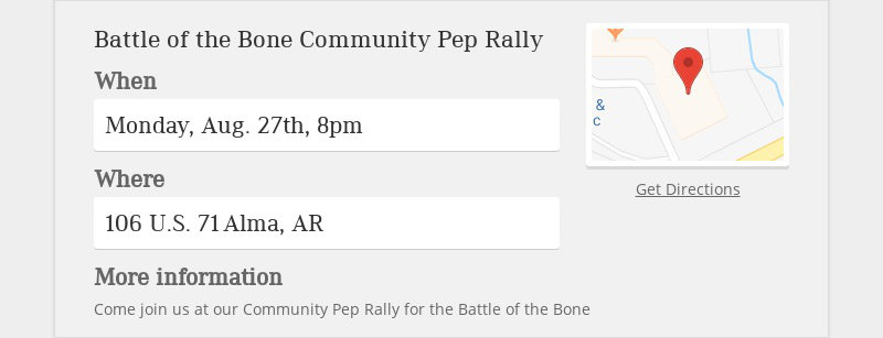 Battle of the Bone Community Pep Rally