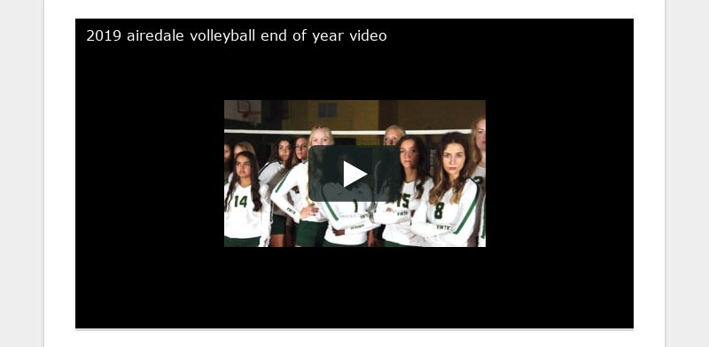 2019 airedale volleyball end of year video