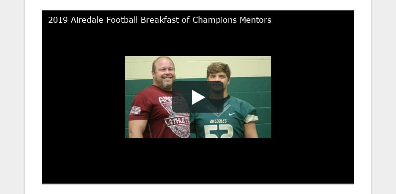 2019 Airedale Football Breakfast of Champions Mentors