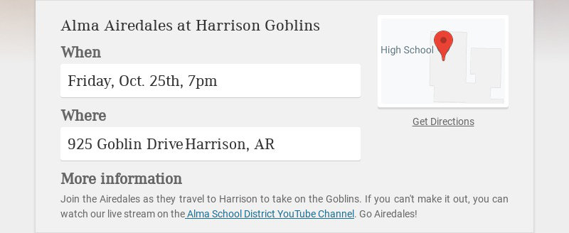 Alma Airedales at Harrison Goblins