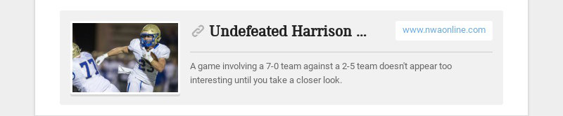 Undefeated Harrison can't overlook 2-5 Airedales