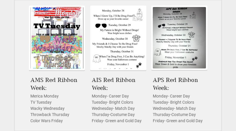 AMS Red Ribbon Week:
