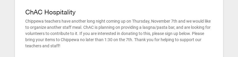 ChAC Hospitality