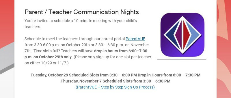 Parent / Teacher Communication Nights