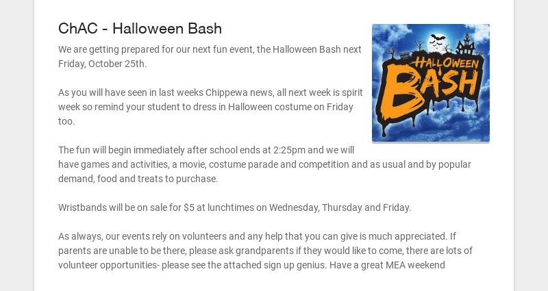 ChAC - Halloween Bash