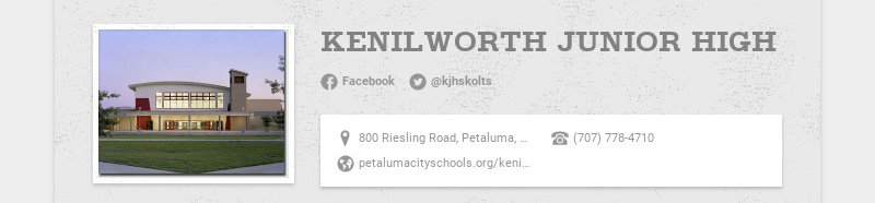 KENILWORTH JUNIOR HIGH