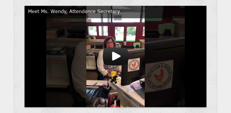 Meet Ms. Wendy, Attendance Secretary