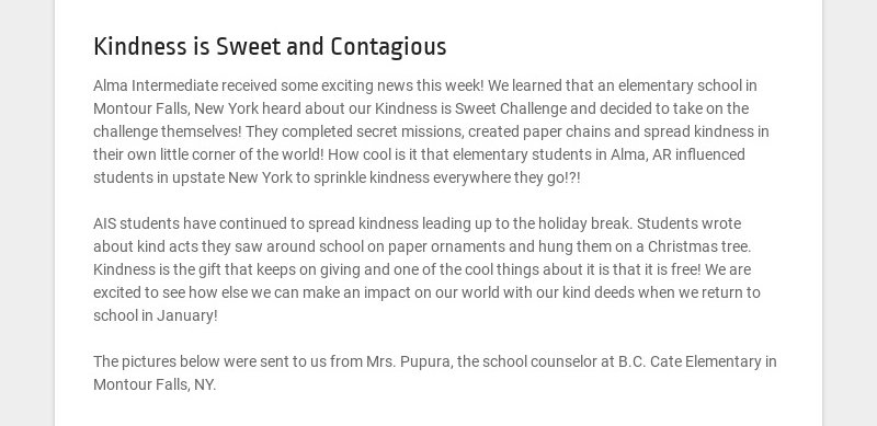 Kindness is Sweet and Contagious