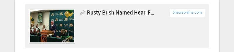 Rusty Bush Named Head Football Coach At Alma 5newsonline.com