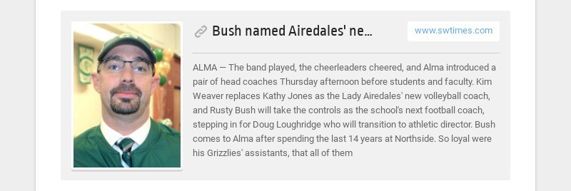 Bush named Airedales' new football coach