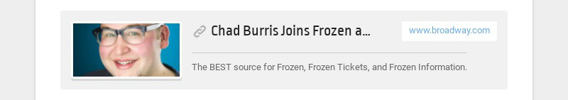 Chad Burris Joins Frozen as Olaf for Limited Run