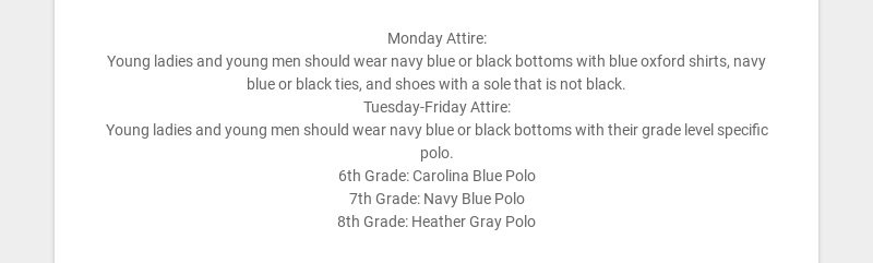 Monday Attire:
