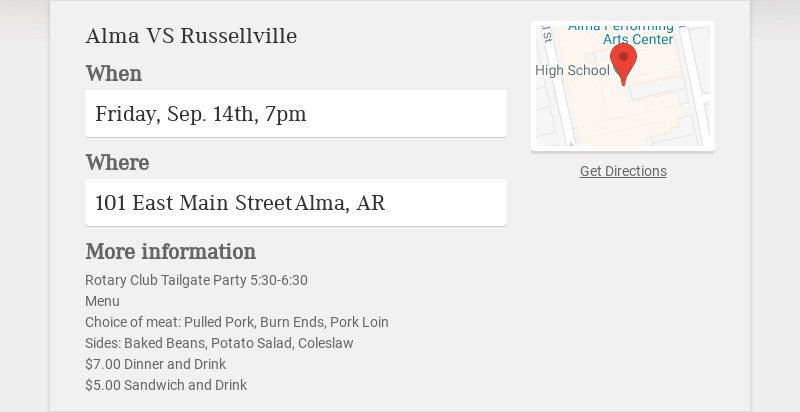 Alma VS Russellville
