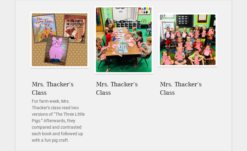 Mrs. Thacker's Class