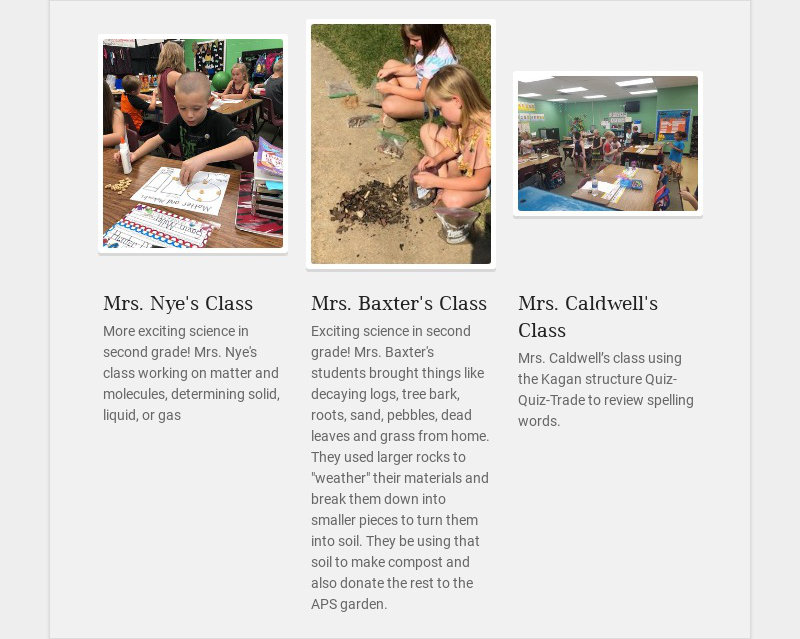 Mrs. Nye's Class