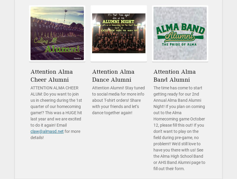 Attention Alma Cheer Alumni