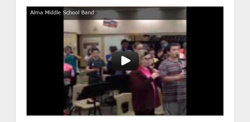 Alma Middle School Band