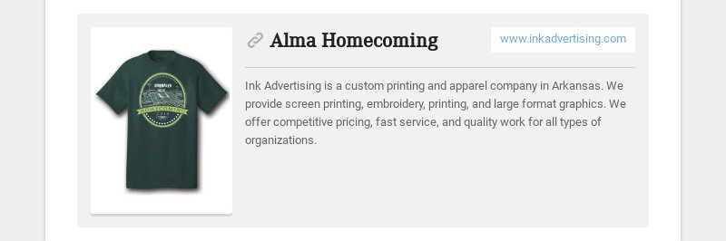 Alma Homecoming