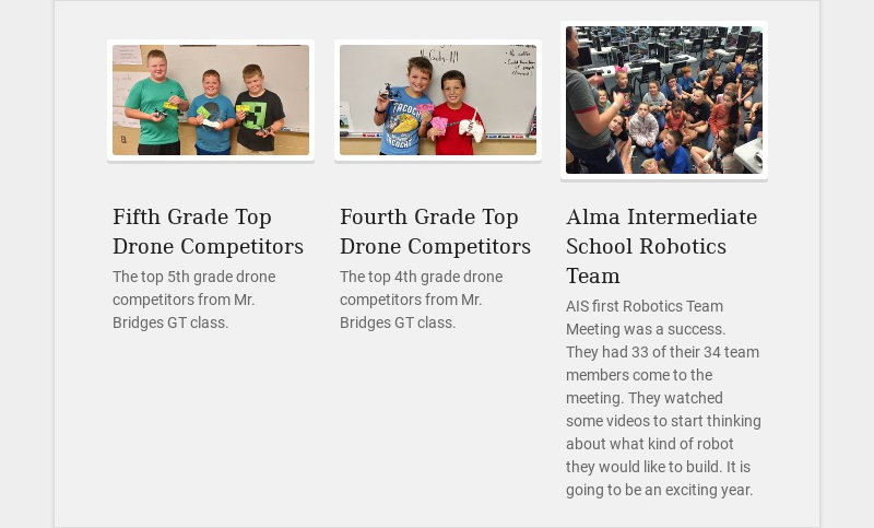 Fifth Grade Top Drone Competitors