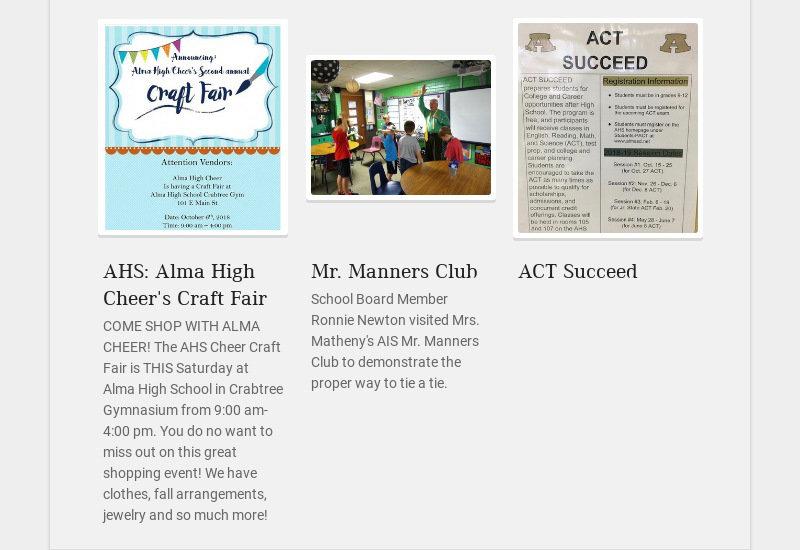 AHS: Alma High Cheer's Craft Fair COME SHOP WITH ALMA CHEER! The AHS Cheer Craft Fair is THIS...