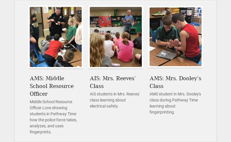 AMS: Middle School Resource Officer