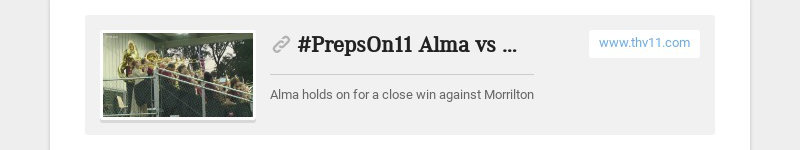 #PrepsOn11 Alma vs Morrilton FINAL