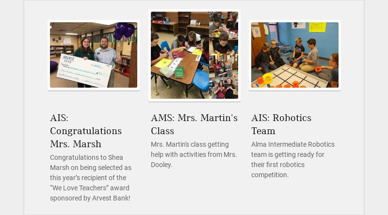 AIS: Congratulations Mrs. Marsh Congratulations to Shea Marsh on being selected as this year's...