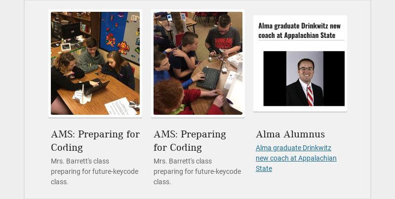 AMS: Preparing for Coding Mrs. Barrett's class preparing for future-keycode class. AMS: Preparing...