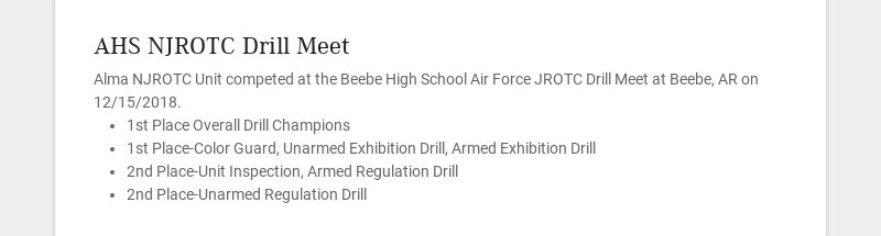 AHS NJROTC Drill Meet