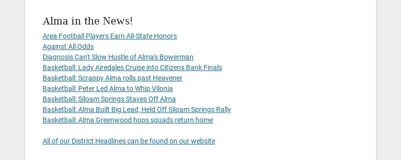 Alma in the News!