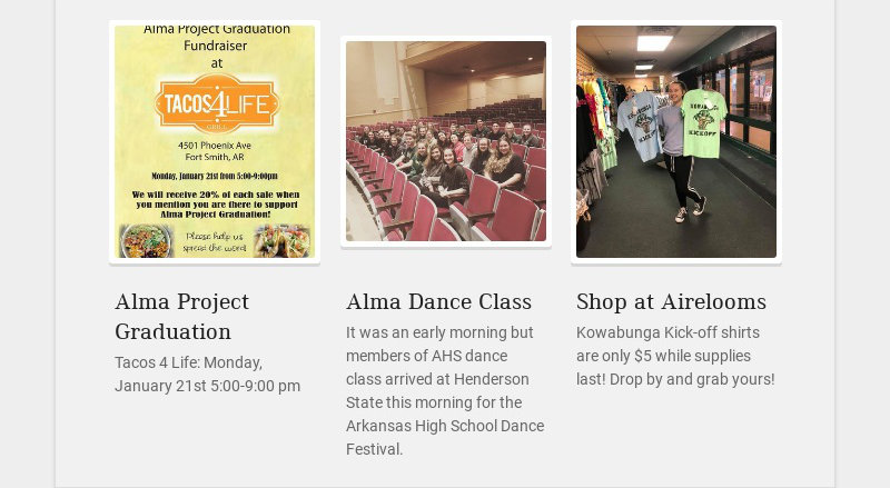 Alma Project Graduation