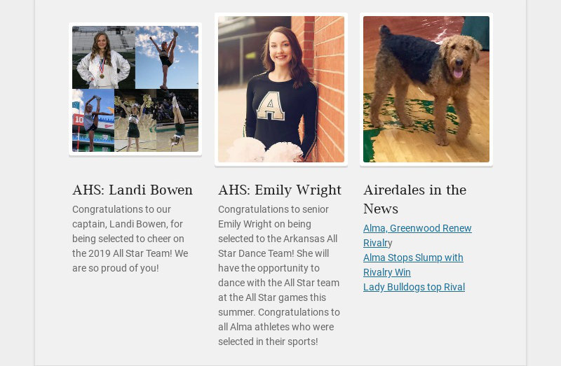 AHS: Landi Bowen Congratulations to our captain, Landi Bowen, for being selected to cheer on the...